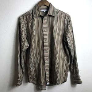 Ted Baker Brown Striped Long Sleeve Shirt Medium 3